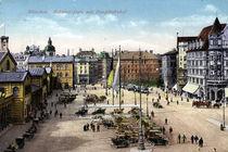 Muenchen, Bahnhofsplatz / Postkarte von AKG  Images