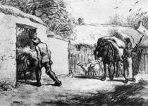 J.F.Millet, Bauern bei der Arbeit von AKG  Images