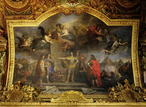 Ludwig XIV. gibt Befehl.. / Le Brun von AKG  Images
