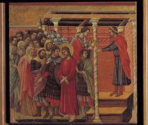 Duccio, Pilatus waescht Haende in Unschuld by AKG  Images
