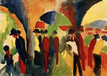 A.Macke, Spaziergaenger by AKG  Images