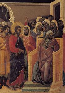 Duccio, Christus vor Kaiphas, Ausschn. von AKG  Images