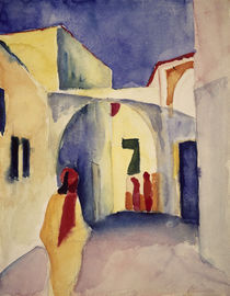 August Macke, Blick in Gasse in Tunis von AKG  Images
