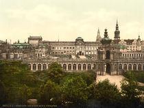 Dresden, Zwinger / Photochrom von AKG  Images