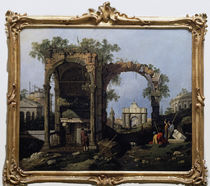 Canaletto, Capriccio mit klass.Motiven by AKG  Images