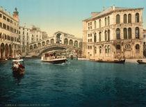 Venedig, Ponte di Rialto / Photochrom von AKG  Images