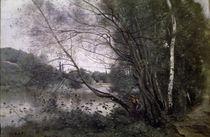 C.Corot, Teich mit sich neigendem Baum by AKG  Images