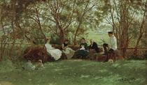 Ilja Repin, Auf einer Rasenbank von AKG  Images