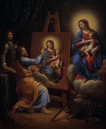 P.Mignard, Hl. Lukas malt die Madonna by AKG  Images