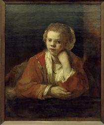 Rembrandt, Maedchen am Fenster von AKG  Images