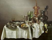 W.C.Heda,Stilleben mit vergoldetem Pokal von AKG  Images
