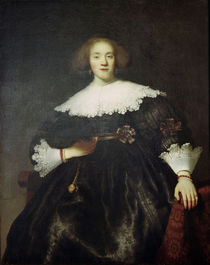 Rembrandt, Portraet einer Frau mit Faecher by AKG  Images