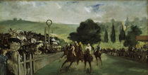 E.Manet, Pferderennen in Longchamp von AKG  Images