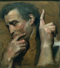 Michelangelo / Studie von Ingres von AKG  Images