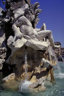 Rom, Fontana dei Fiumi, Ganges / Foto by AKG  Images