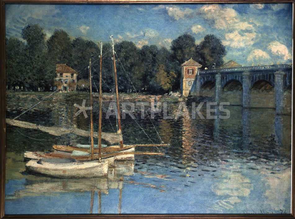 c monet die bruecke von argenteuil bild als poster und kunstdruck von akg images bestellen. Black Bedroom Furniture Sets. Home Design Ideas