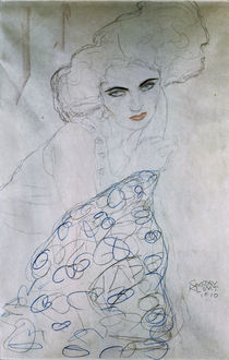 G.Klimt, Studie zu Damenportraet / 1910 by AKG  Images