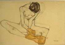 E. Schiele, Weiblicher Akt/ 1913 by AKG  Images