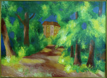 August Macke, Rotes Haus im Park by AKG  Images