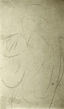 A.Modigliani, Frau mit Hut (Zeichnung) by AKG  Images