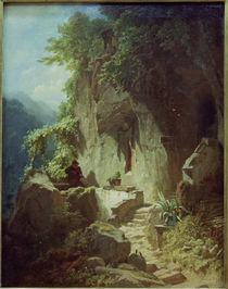 C.Spitzweg, Musizierender Einsiedler.. by AKG  Images