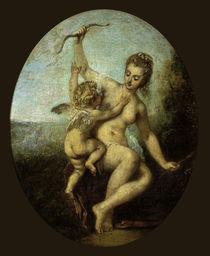 Antoine Watteau, Venus entwaffnet Amor by AKG  Images