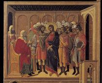 Duccio, Christus vor Hannas by AKG  Images