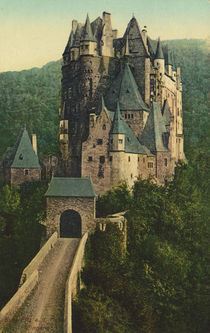 Burg Eltz, Aussenansicht / Postkarte by AKG  Images