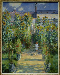 Claude Monet, Garten Monets in Vetheuil von AKG  Images