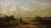 C.Spitzweg, Weite Landschaft m.Wanderern von AKG  Images