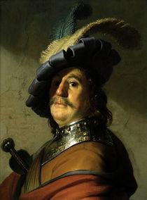 Rembrandt, Soldat mit Halskragen und ... von AKG  Images