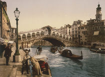 Venedig, Ponte di Rialto / Foto c.1890 by AKG  Images