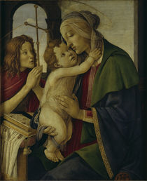 Botticelli, Maria mit Kind und Johannes by AKG  Images