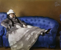 E.Manet, Madame Manet auf blauem Sofa by AKG  Images