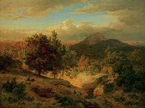 Andreas Achenbach / Roemische Landschaft by AKG  Images
