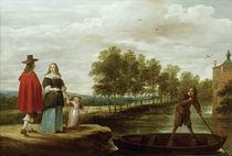 Teniers, Elegante Familie vor Ueberfahrt by AKG  Images