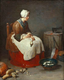 J.B.S.Chardin, Die Ruebenputzerin von AKG  Images