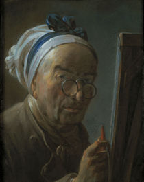 J.B.S.Chardin, Selbstbildnis v.Staffelei by AKG  Images