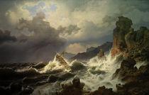 A.Achenbach, Ein Seesturm v.norweg.Kueste by AKG  Images