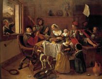 Jan Steen/Die froehliche Familie/1668 by AKG  Images