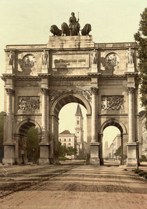 Muenchen, Siegestor / Photochrom by AKG  Images