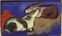 Franz Marc, Zwei schlafende Hasen von AKG  Images