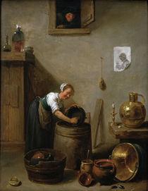 D.Teniers d.J., Jg.Maedchen beim Abwasch by AKG  Images