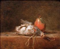 J.B.S.Chardin, Rebhuhn mit Birne von AKG  Images