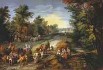 Jan Brueghel d.Ae., Landstrasse by AKG  Images