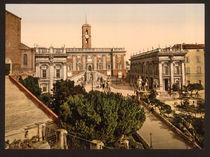 Rom, Kapitolsplatz / Photochrom von AKG  Images