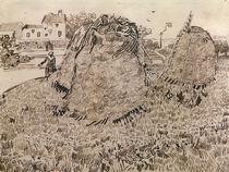 V.v.Gogh, Die Strohhaufen / Zeichnung von AKG  Images