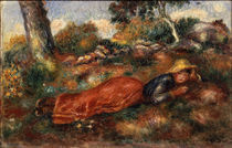 A.Renoir/ Jeune fille sur l'herbe von AKG  Images