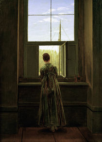 C.D.Friedrich, Frau am Fenster /1822 by AKG  Images