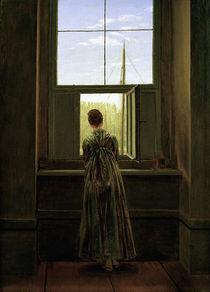 C.D.Friedrich, Frau am Fenster /1822 von AKG  Images